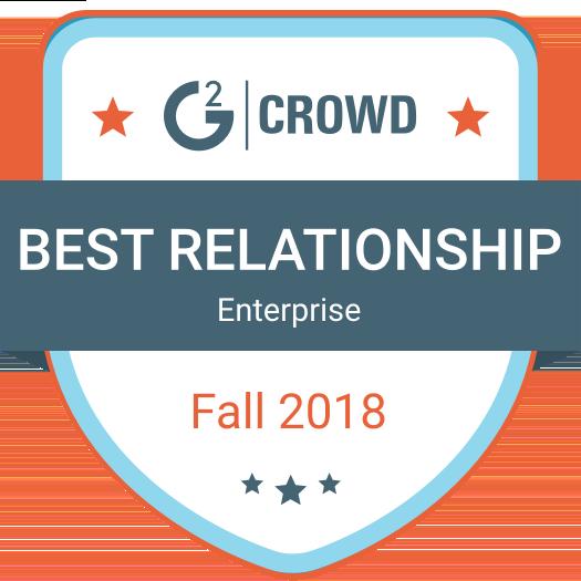 G2Crowd Best Relationship 2018