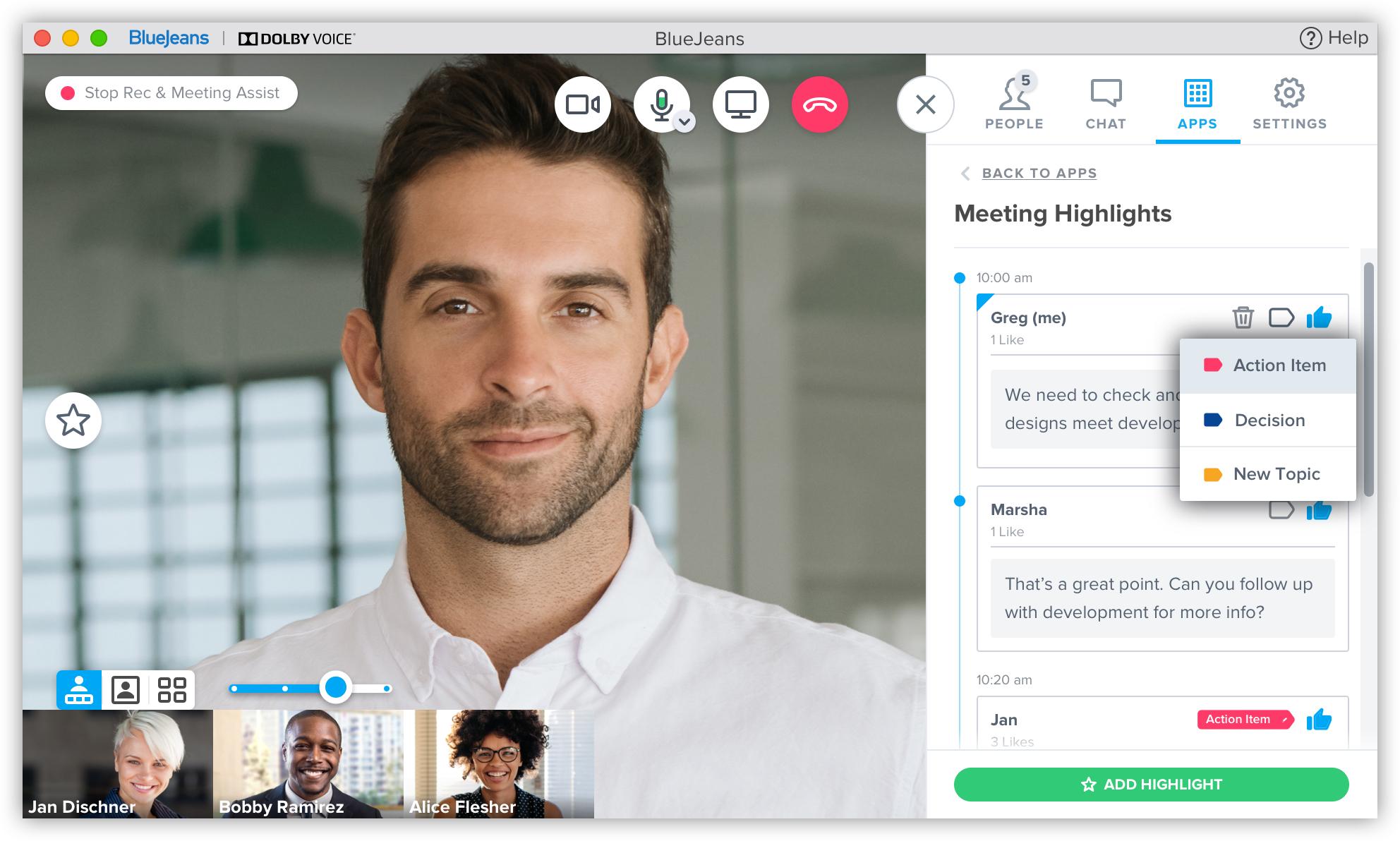 BlueJeans Meeting Management Software