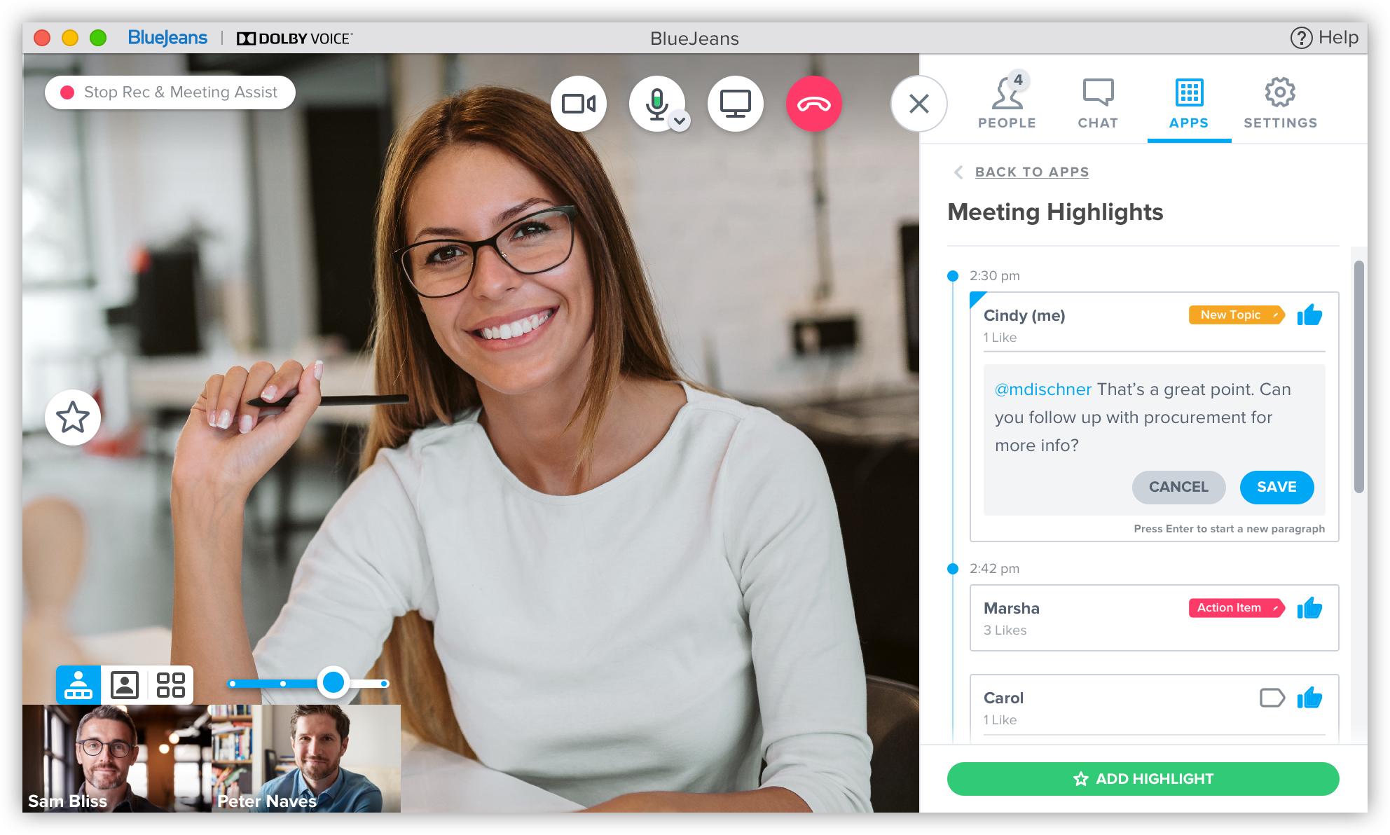 BlueJeans Smart Meetings Highlights