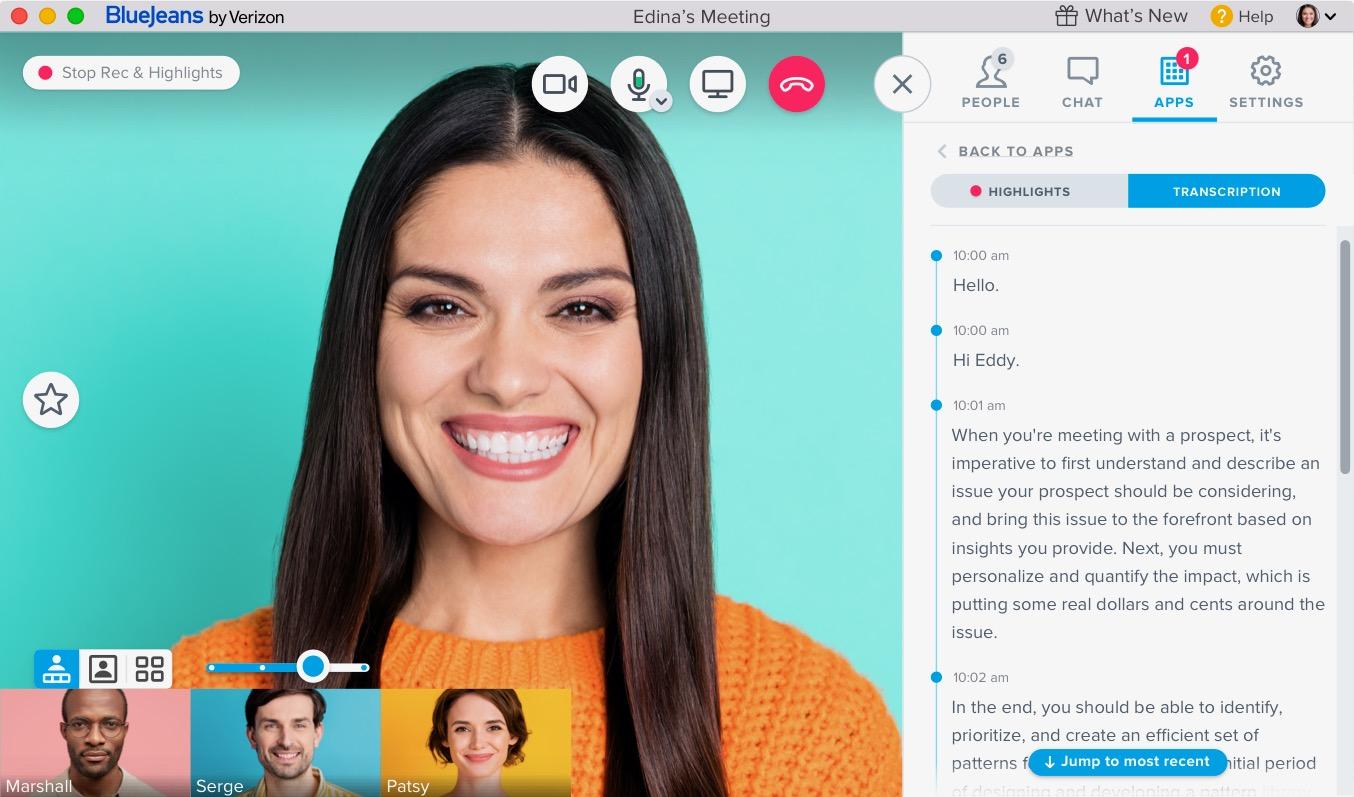 Video Conferencing Transcription Feature