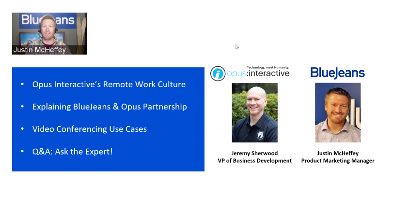 Opus Interactive & BlueJeans