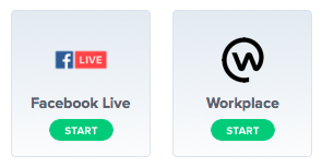 Streaming from BlueJeans to Facebook or Workplace