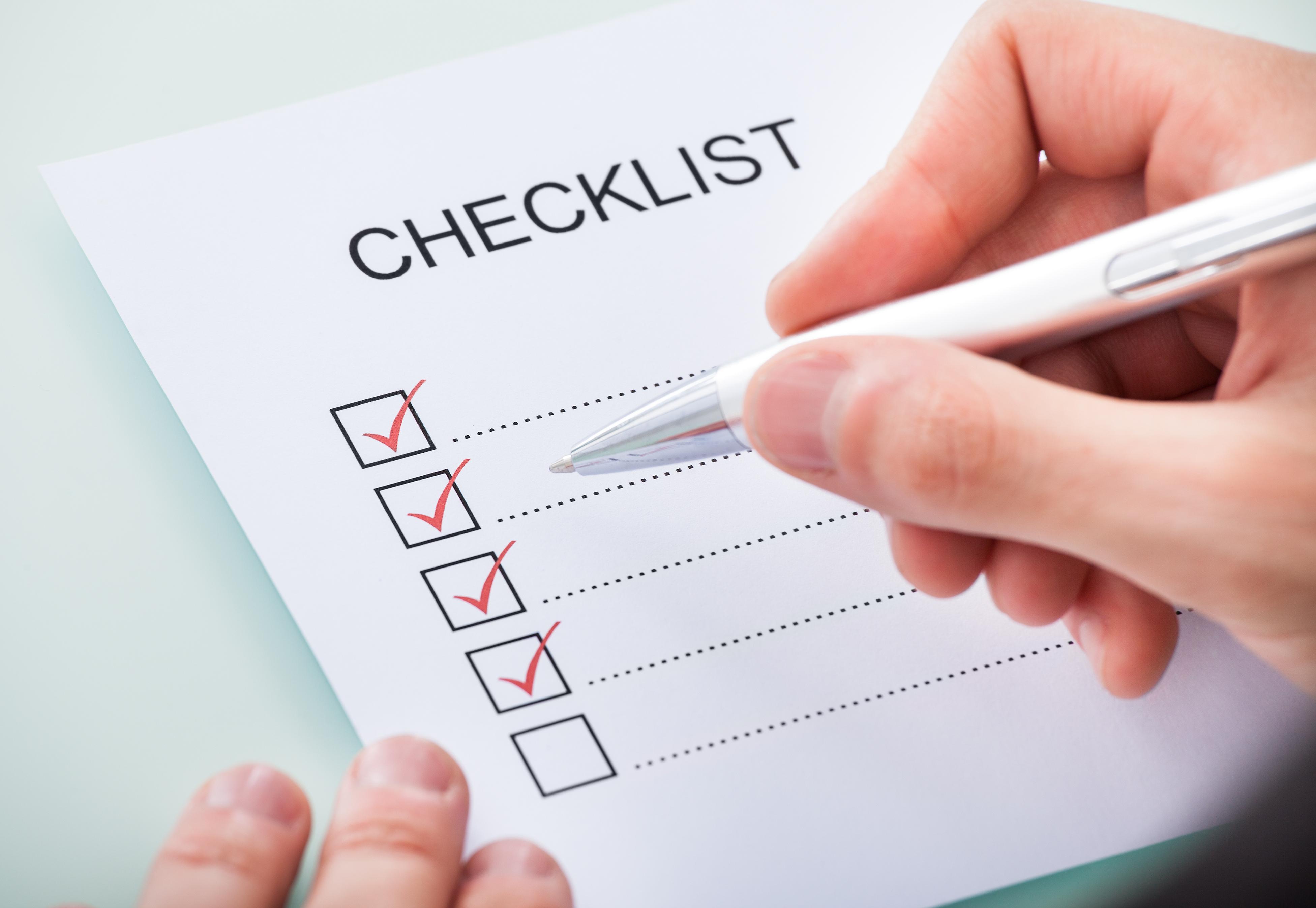 Video Conferencing Checklist