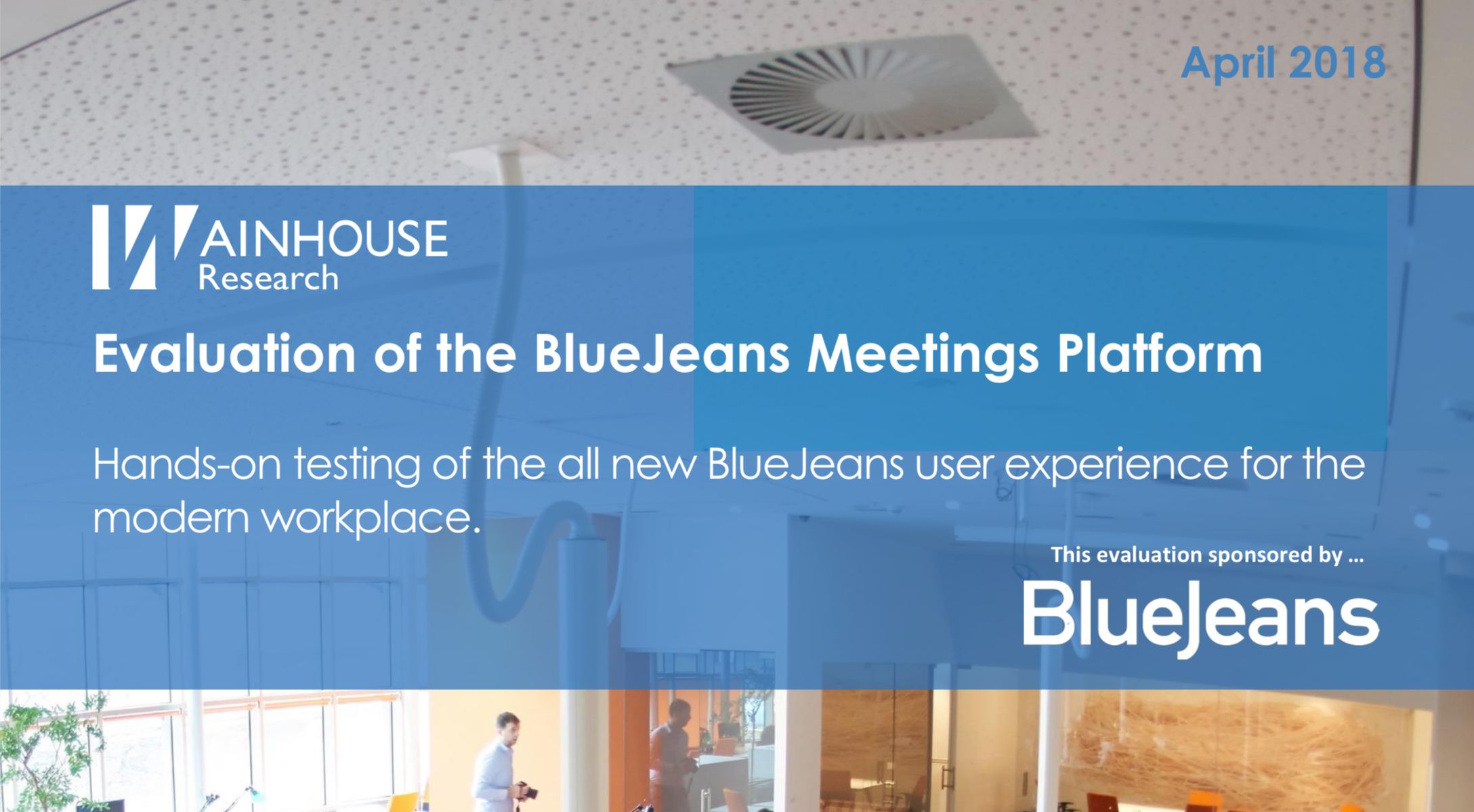 Wainhouse Evaluation of BlueJeans Meetings Cover