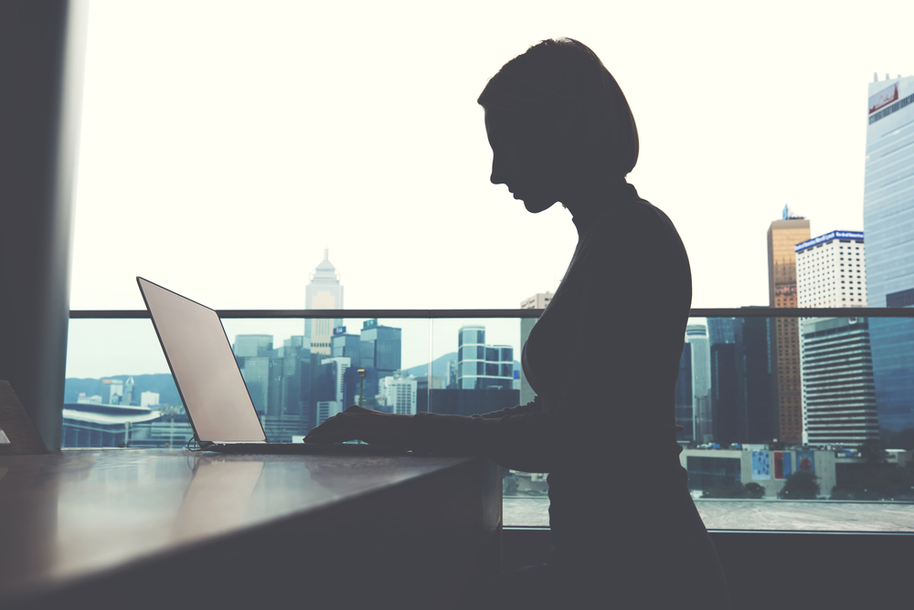 Woman Freelancing Using Video Conferencing